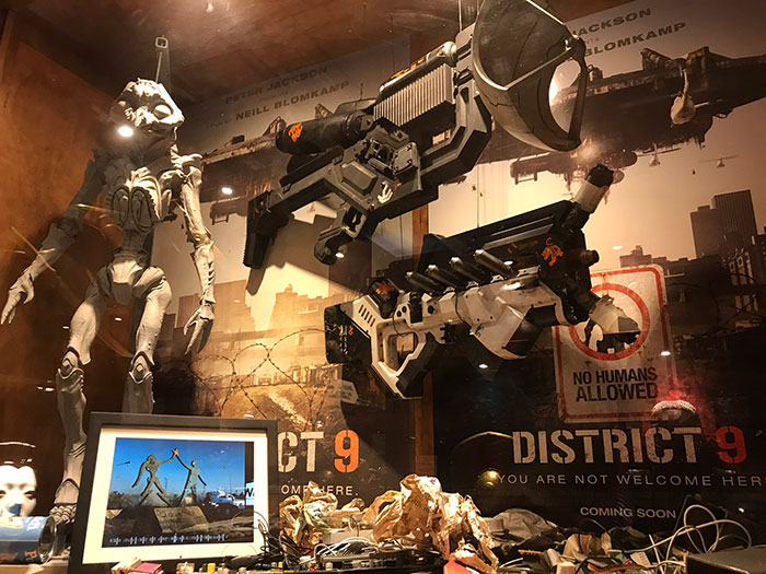 District 9 display, Weta Cave