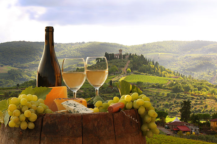 Wine in Tuscany, Italy