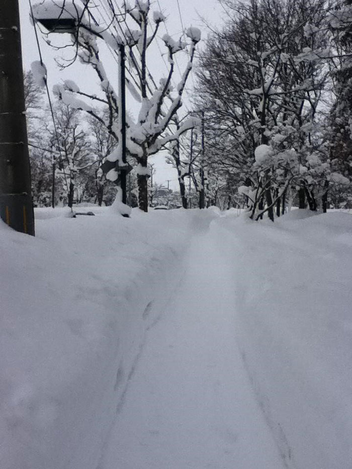 A fairly normal winter day on my walk to work, Iwamizawa