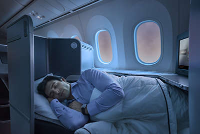Sleeping Business Class Air Canada