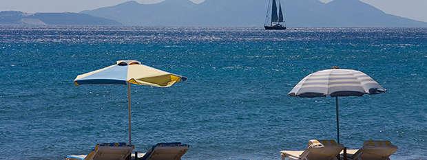 A beach in Kos