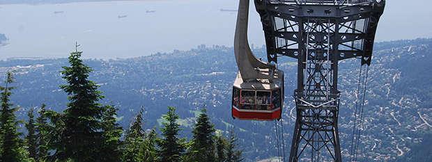 Grouse Mountain gondola, Vancouver, Canada