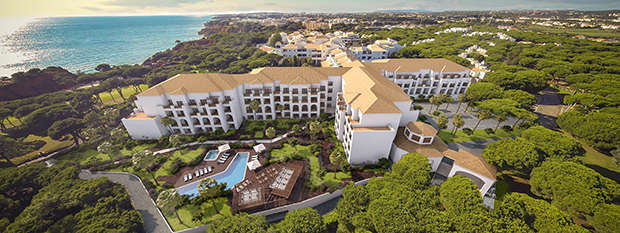 Aerial view of the Sheraton Algarve