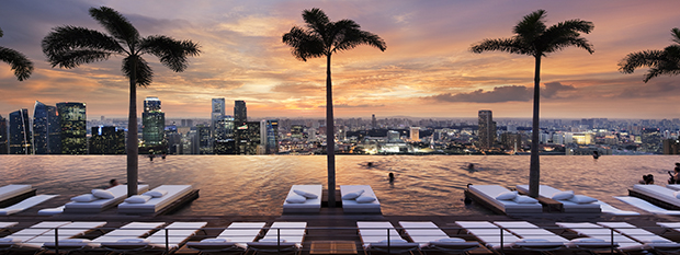 Marina Bay Sands at sunset