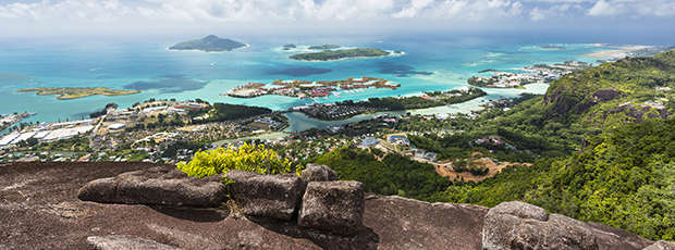 View from Mount Copolia, Seychelles