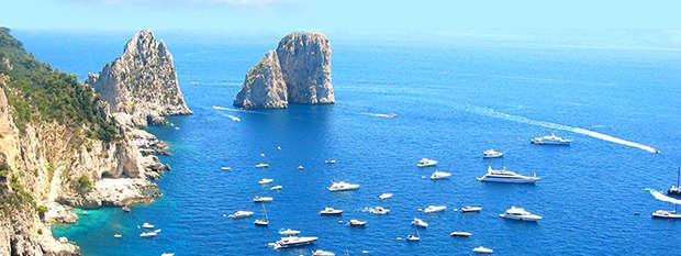 Yachts in Capri