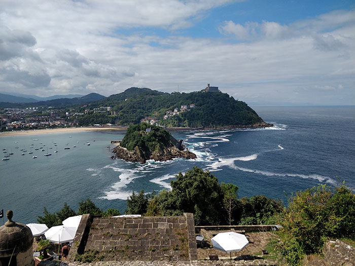 San Sebastian Beach Angela Griffin