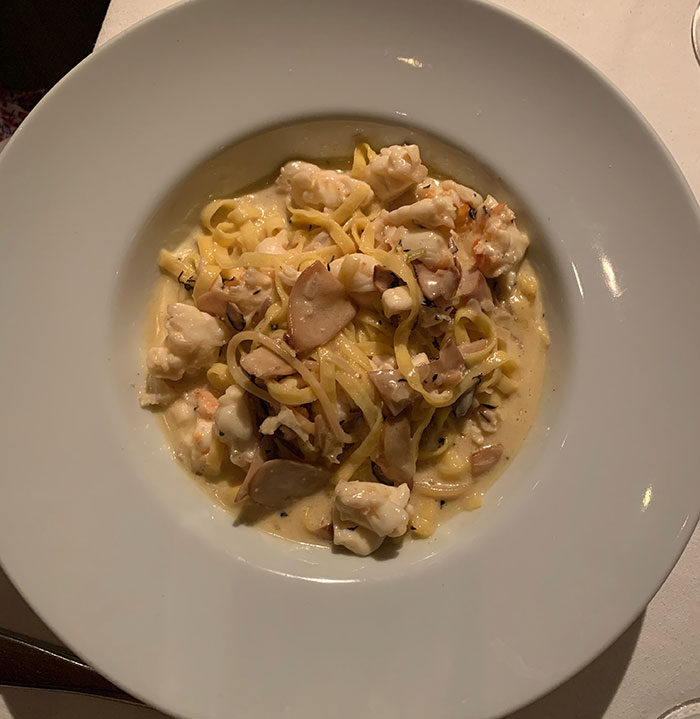 Seafood pasta at Satyricon Carlie Mesquitta