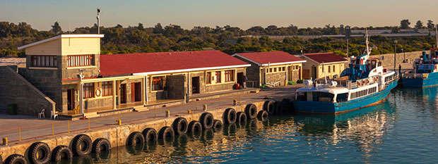 The dock on Robbin Island