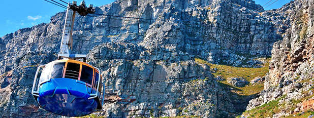 The cable car up to Table Mountain in South Africa