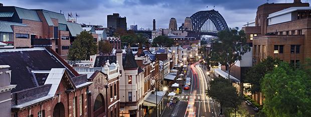 The historic Sydney suburb - the Rocks