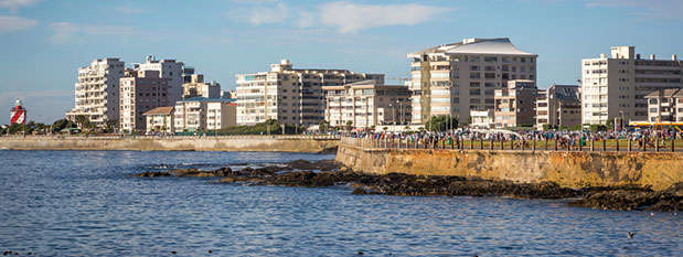 View over the Sea Point Promenade