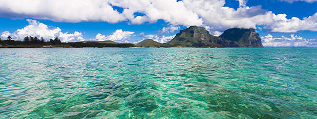 Blue ocean around Lord Howe Island