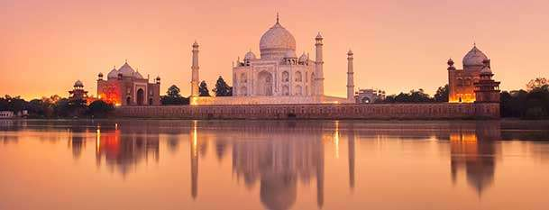 Taj Mahal on the river