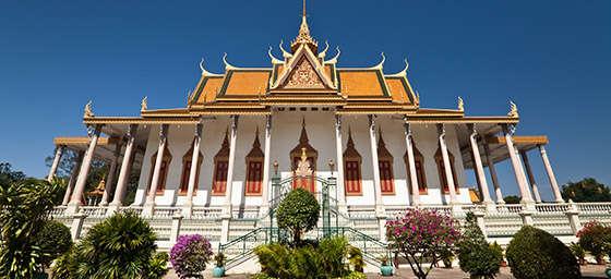 The Silver Pagoda at the Royal Palace Phnom Penh