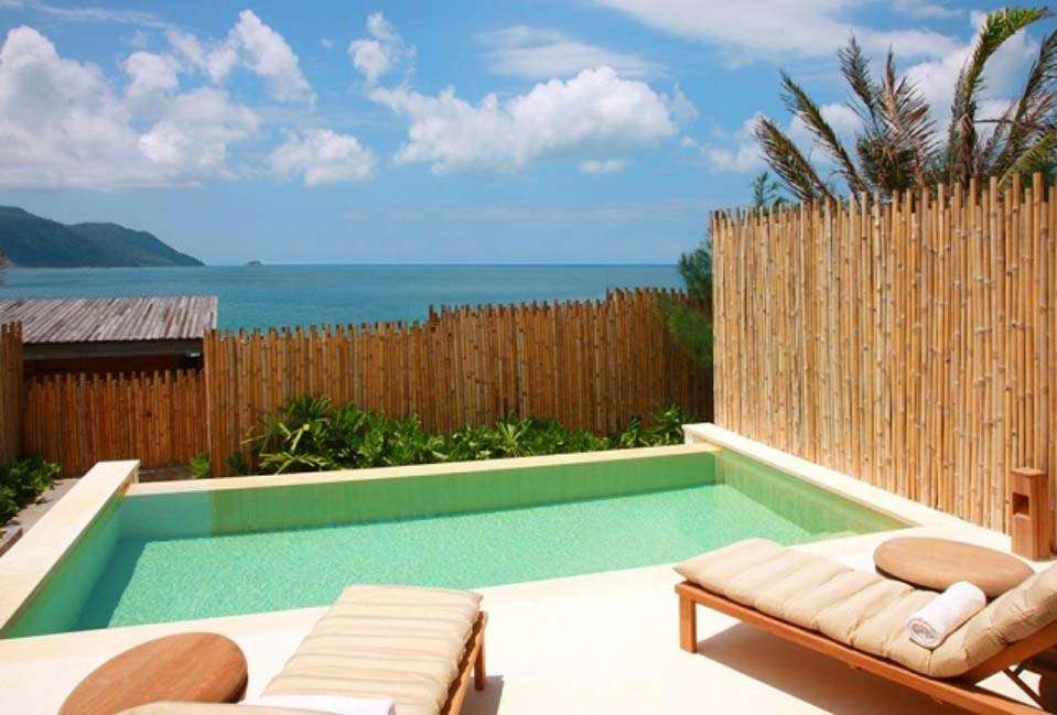 A duplex's private pool at Six Senses Con Dao