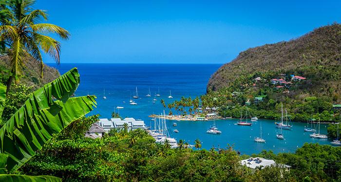 St Lucia cove