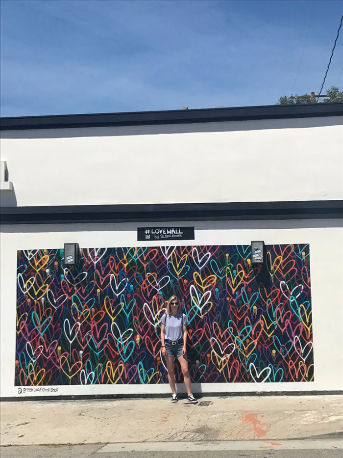 Street art Venice Beach LA Carlie Mesquitta
