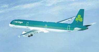Aer Lingus in the sky