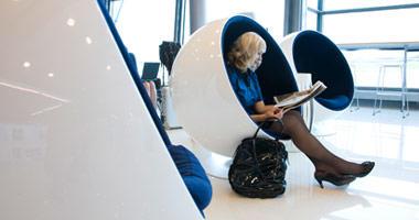 Funky Finnair lounge