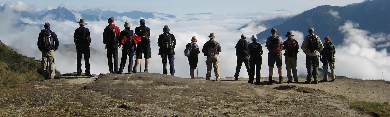 People on an Exodus Tour enjoying a vista