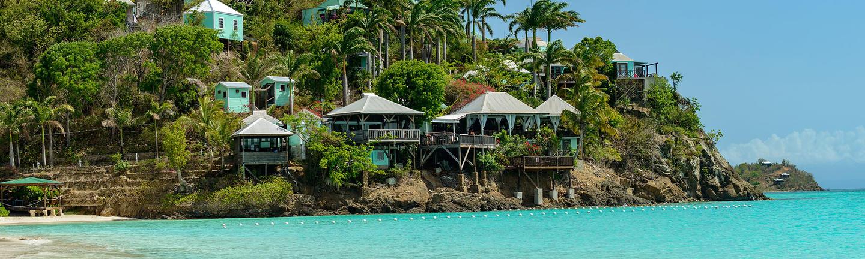 A beach in Antigua