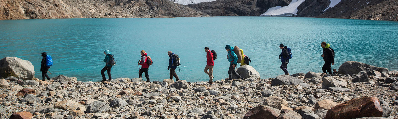 Hiking through Patagonia in South America