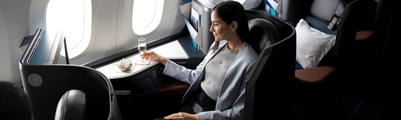 WestJet Business Class hero