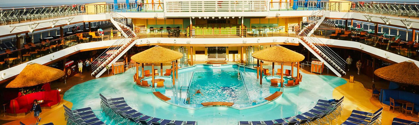 The pool onboard a Carnival Cruise