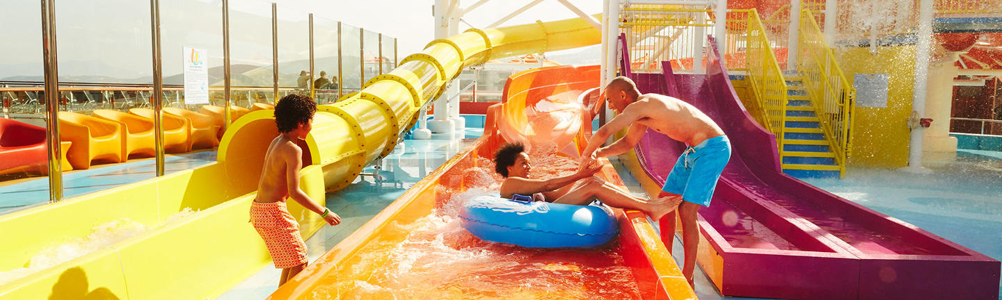 Waterslides onboard Carnival Cruises