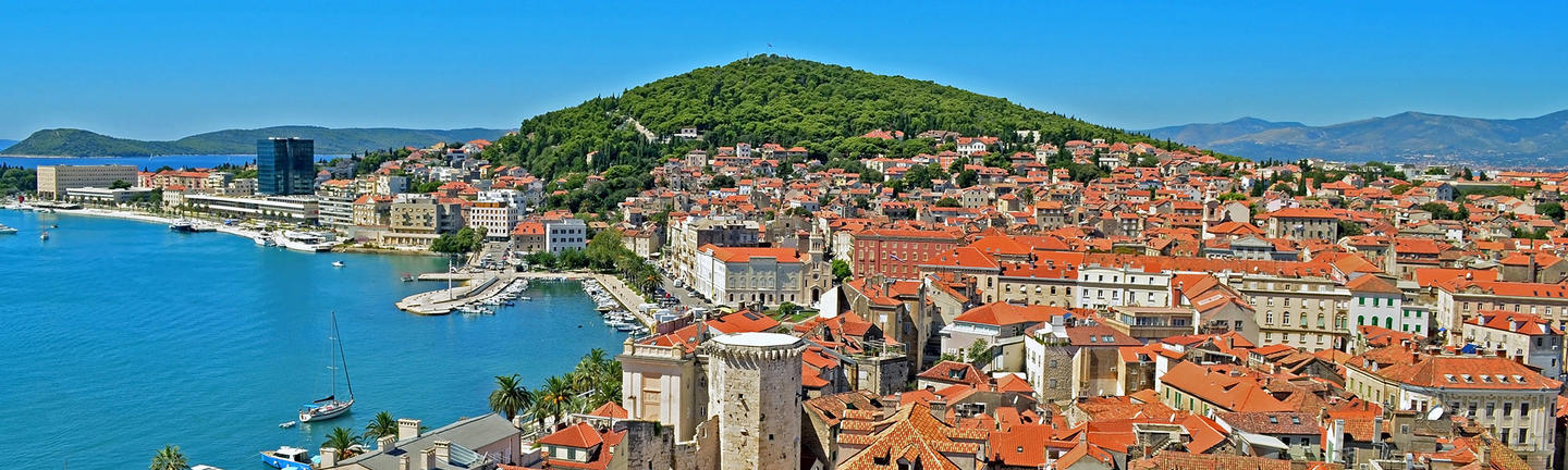 An aerial view of Croatia
