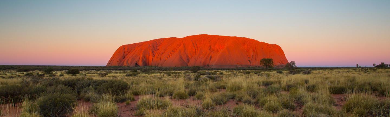 Uluru at dusk in Australia