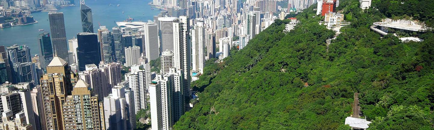 The Peak overlooking Hong Kong