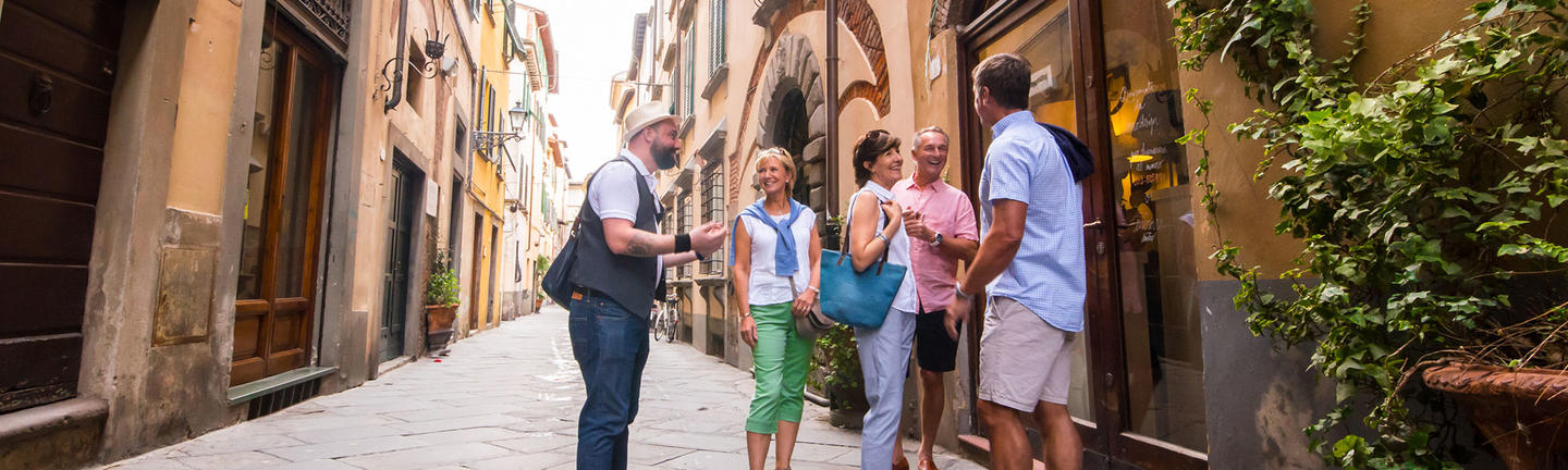 People on a Back-Roads tour in Tuscany, Italy