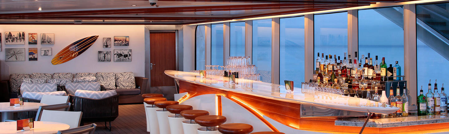 The Seaview Bar Onboard a Holland America ship