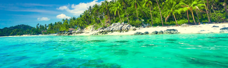 A beach in Koh Samui