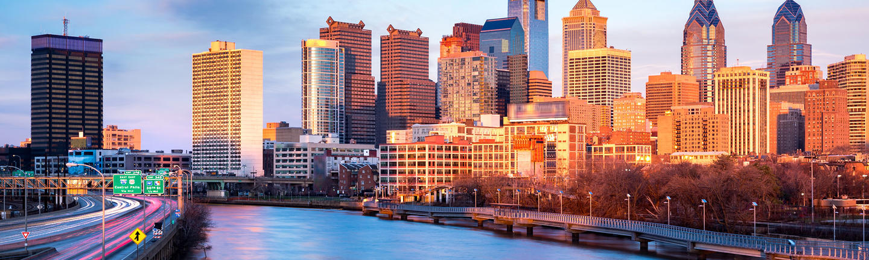 The city skyline in Philadelphia