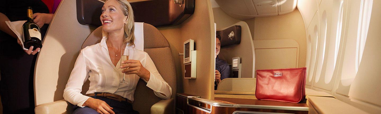 Qantas First Class Flights
