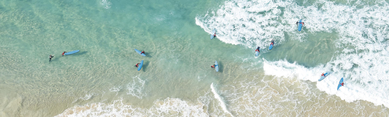 An aerial view of a beach in Queensland