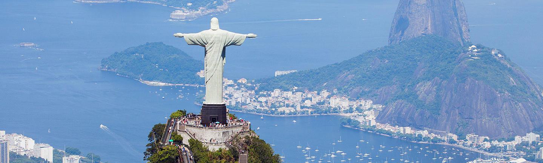 Rio skyline Christ the Redeemer