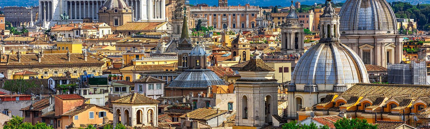 An aerial view of Rome