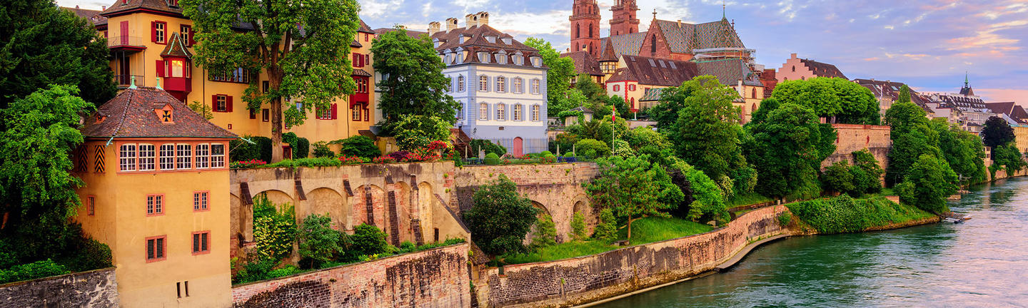 Basel and the Rhine River, Switzerland
