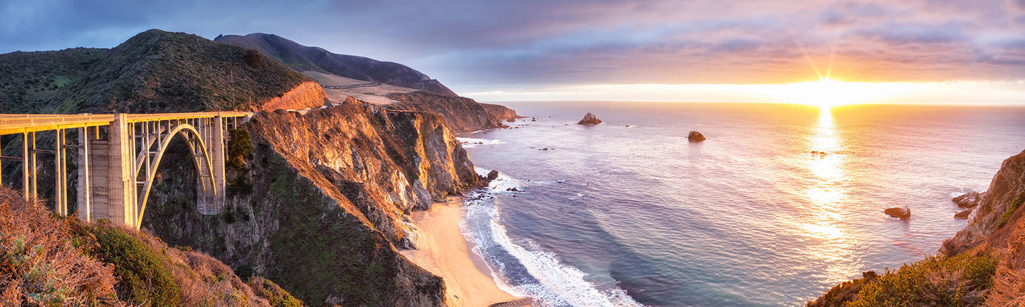 Bucket list holidays, Bixby Bridge, Big Sur, California