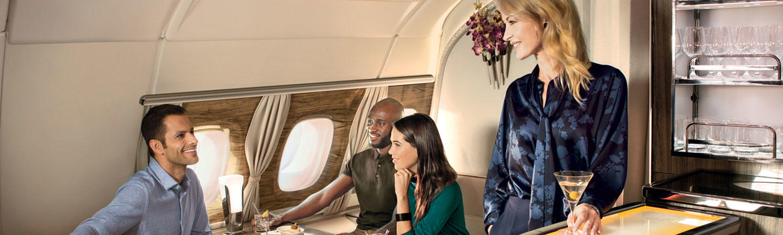 First Class hero A380 lounge