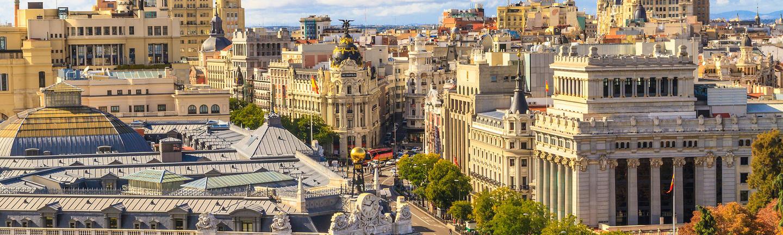Gran Via shopping area, Madrid, Spain