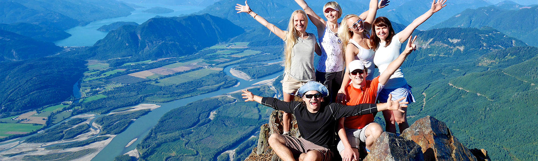 Group travel, mountain