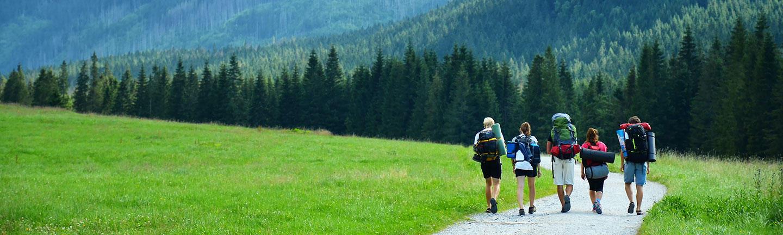 Group travel, hiking