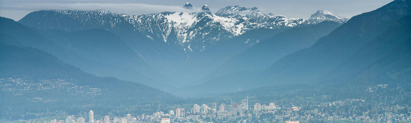 Vancouver and mountains