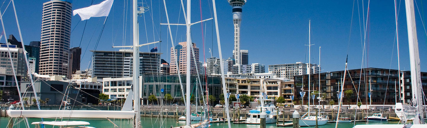 Boats in Auckland Harbour