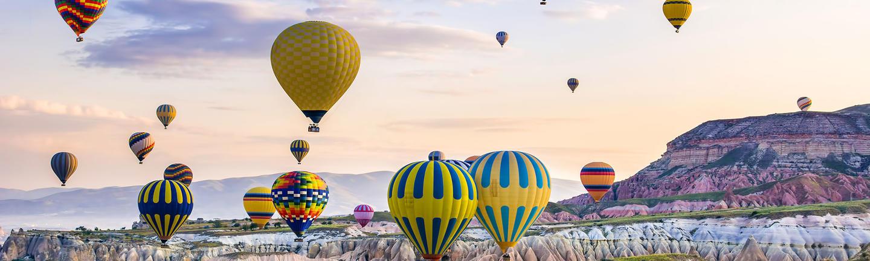 Hot-air balloons in Cappadocia, Turkey